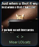 Screenshot of lolcats gadget 1.0