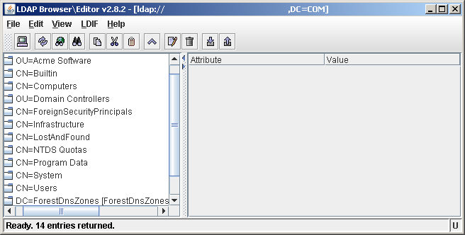 Screenshot of LDAP Browser/Editor